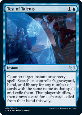 059 Test of Talents Strixhaven Spoiler Card