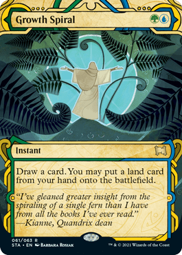 061 Growth Spiral Mystical Archives Spoiler Card