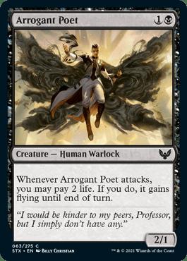 063 Arrogant Poet Strixhaven Spoiler Card