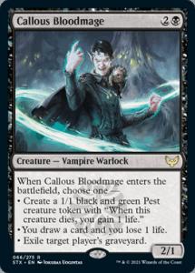 066 Callous Bloodmage Strixhaven Spoiler Card