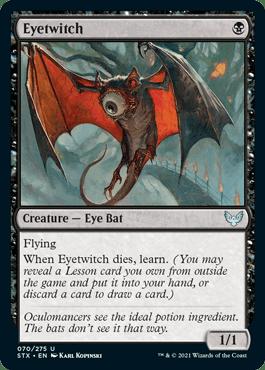 070 Eyetwitch Strixhaven Spoiler Card