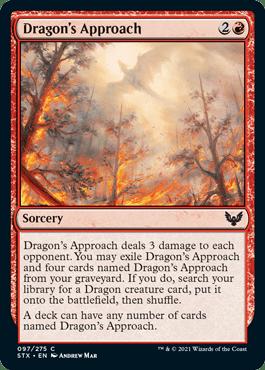 097 Dragon's Approach Strixhaven Spoiler Card