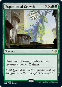 130 Exponential Growth Strixhaven Spoiler Card