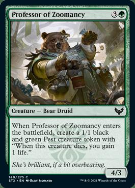 140 Professor of Zoomancy Strixhaven Spoiler Card