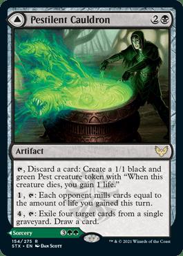 154A Pestilent Cauldron Avatar Strixhaven Spoiler Card