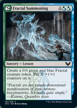 187 Fractal Summoning Strixhaven Spoiler Card