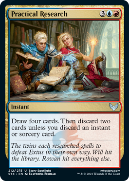 212 Practical Research Strixhaven Spoiler Card