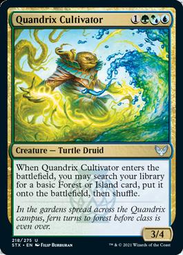 218 Quandrix Cultivator Strixhaven Spoiler Card