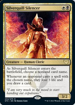 234 Silverquill Silencer Strixhaven Spoiler Card