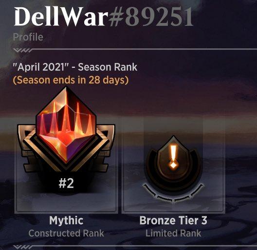 Historic Mono Red Burn by DellWar – #2 Mythic - April 2021 Ranked Season Proof
