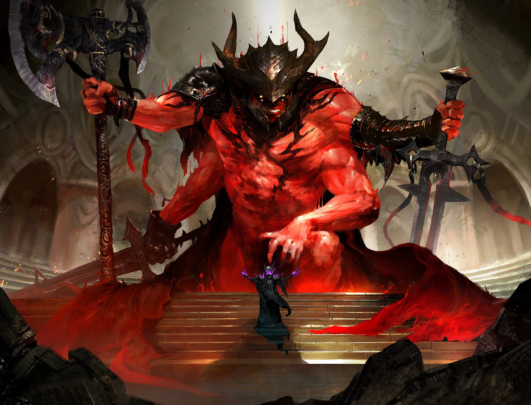 Awaken the Blood Avatar Art by Kekai Kotaki