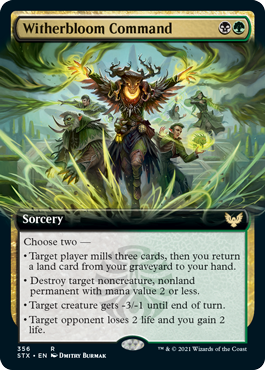 STX 356 Witherbloom Command Extended Art