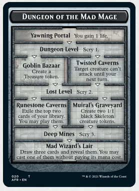 AFR 020 Dungeon of the Mad Mage Token