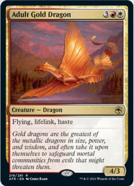 AFR 216 Adult Gold Dragon Main