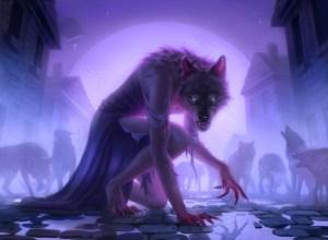 Werewolf Pack Leader Art by Miranda Meeks