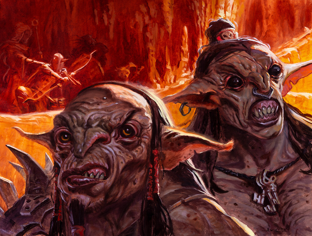 You See a Pair of Goblins Art by Aaron Miller