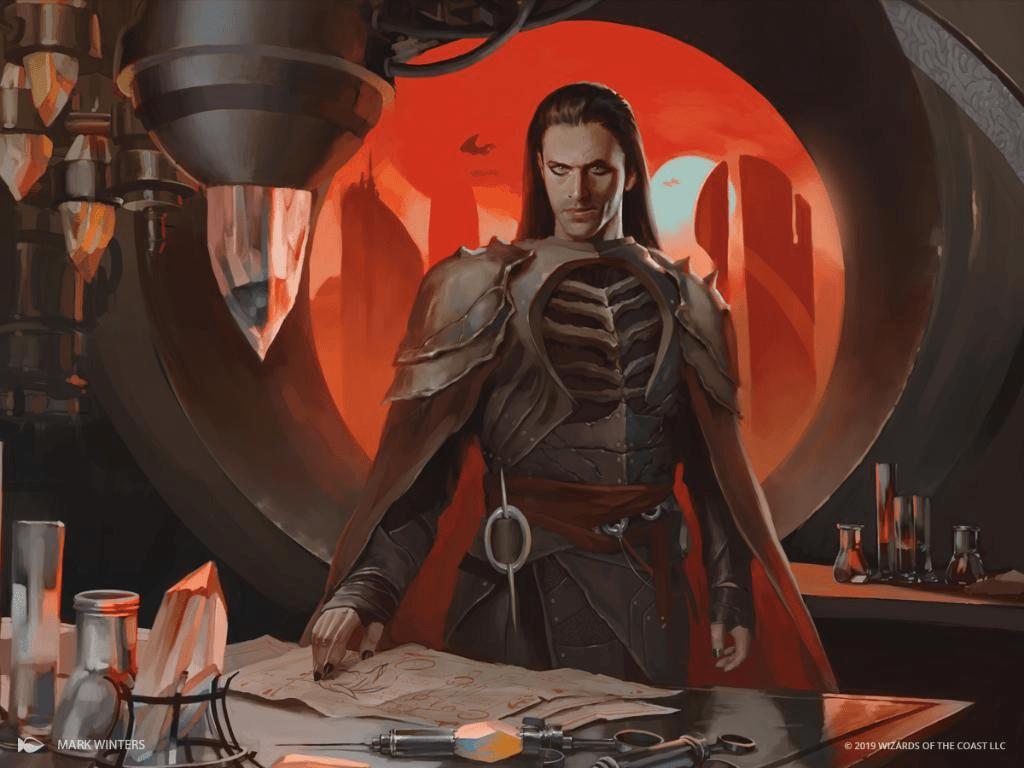 Yawgmoth, Thran Physician Art by Mark Winters