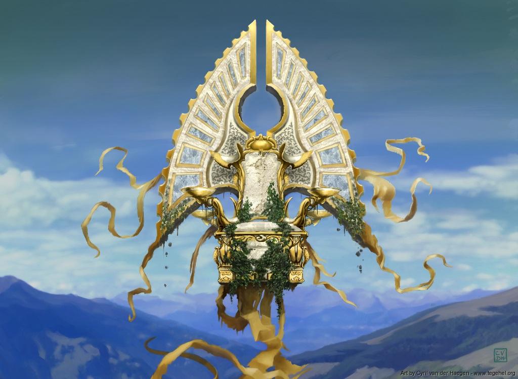 Sigil of the Empty Throne Art by Cyril Van Der Haegen