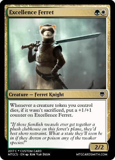 Excellence Ferret By FaithsGuide MTG Cardsmith