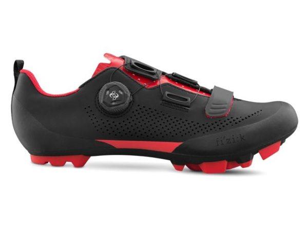 FIZIK X5 Terra mountainbikeschoen zwart rood