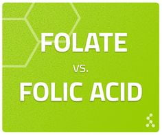 folate vs folic acid