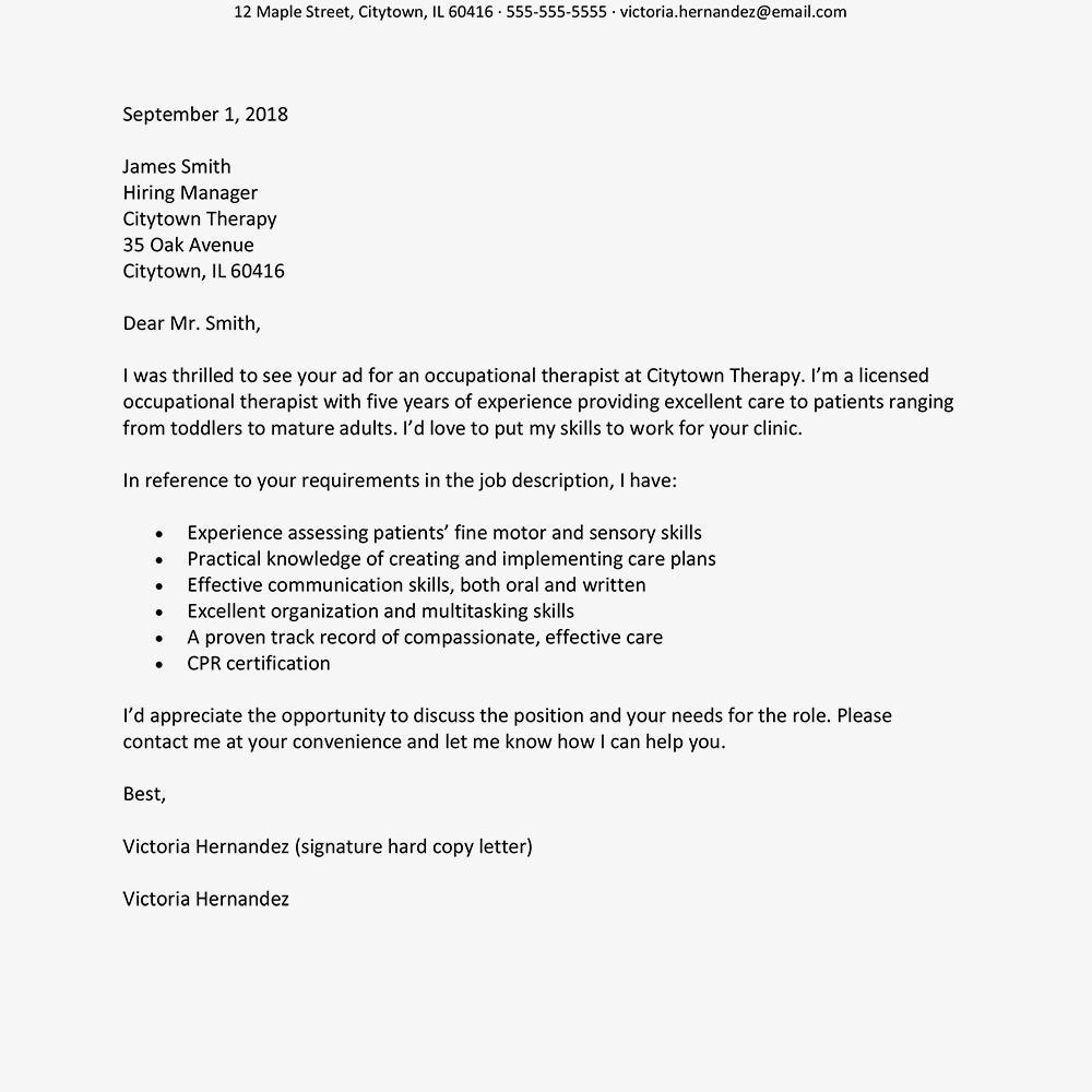 Best Cover Letter Samples For Job Application   Mt Home Arts