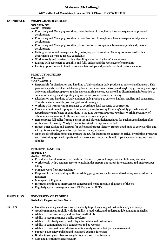 baggage handler resume