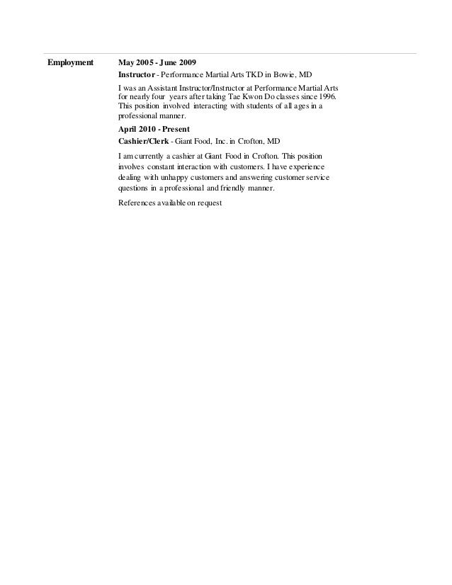 security officer example resume