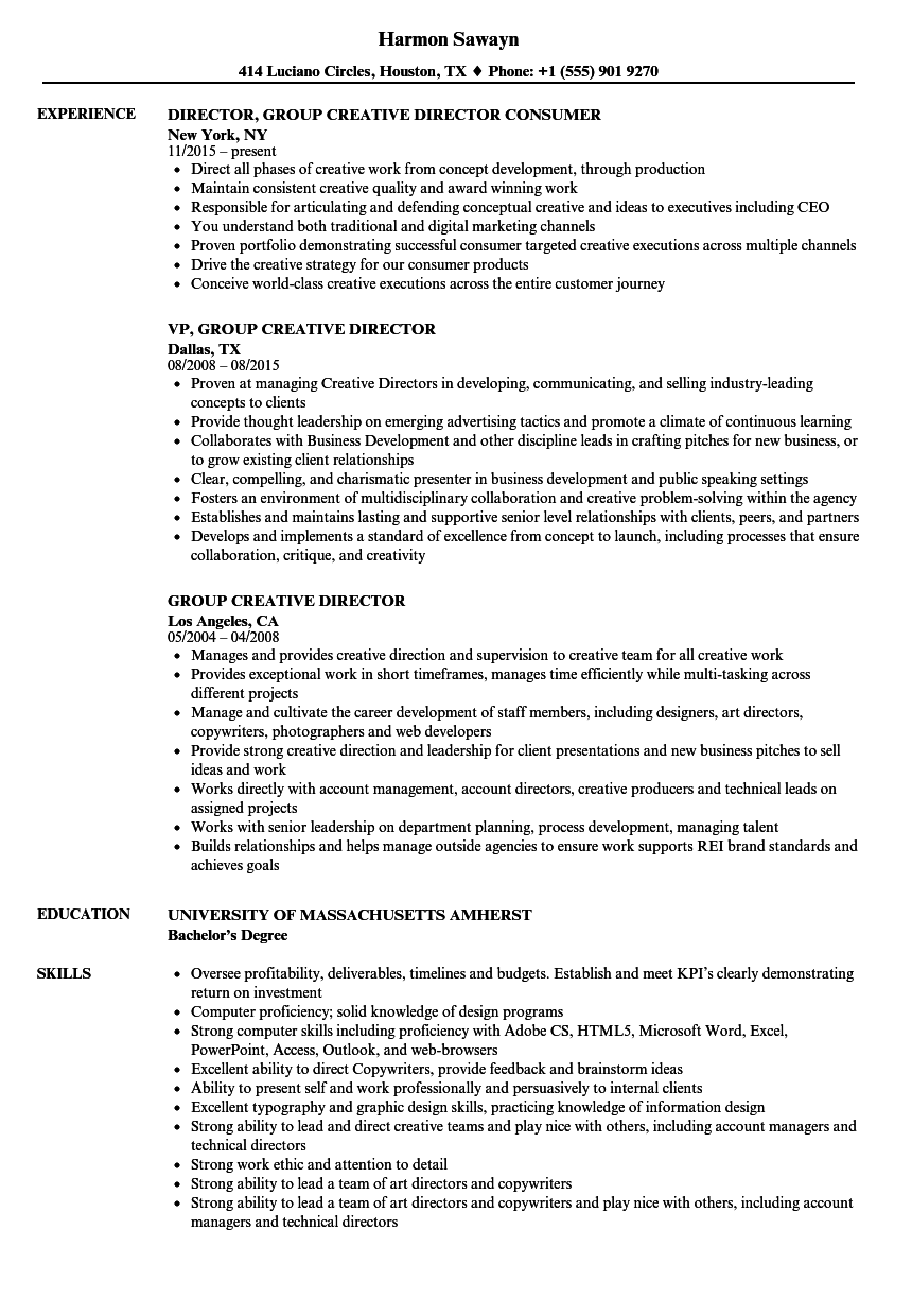 resume objective for art director