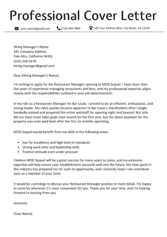 Application Employment Application Cover Letter Examples