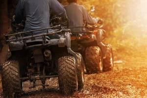 riding ATVs