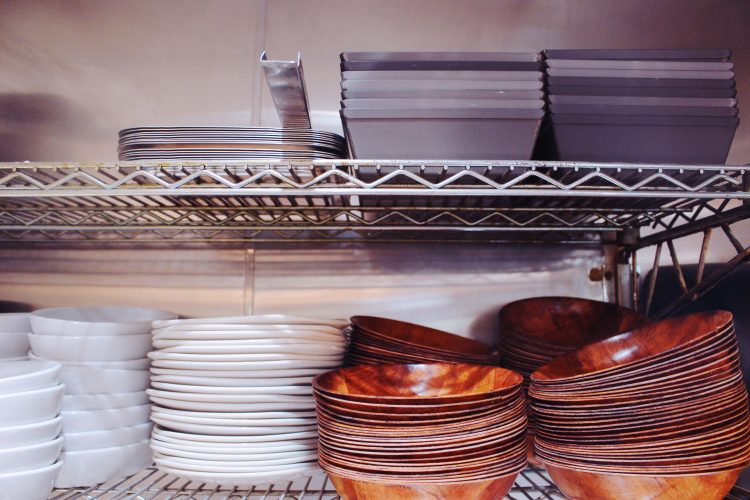 A Look at the Dishes and Pans on the Line at MTH Pizza