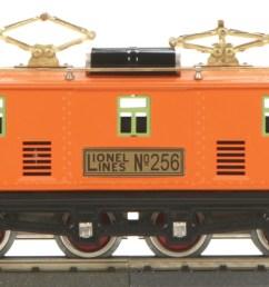o gauge lionel corporation tinplate 256 electric traditional orange 256 electric traditional orange  [ 2400 x 973 Pixel ]
