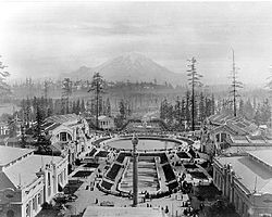 Alaska-Yukon-Pacific Exposition, with Mout Rainier in the background, from Wikipedia