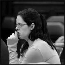 Photo of Jasmine Eskew in a courtroom