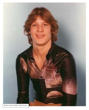 Portrait of Barry Beach in high school