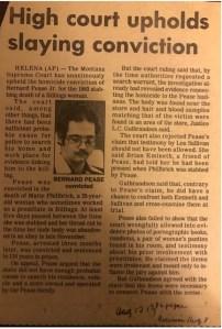 Bernard Pease newspaper clipping