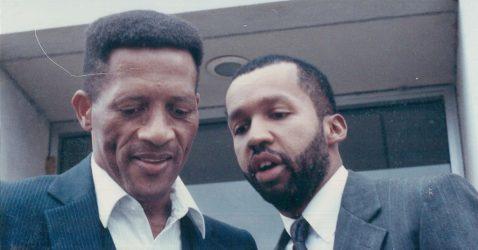 Walter McMillian (left, and Bryan Stevenson (right).