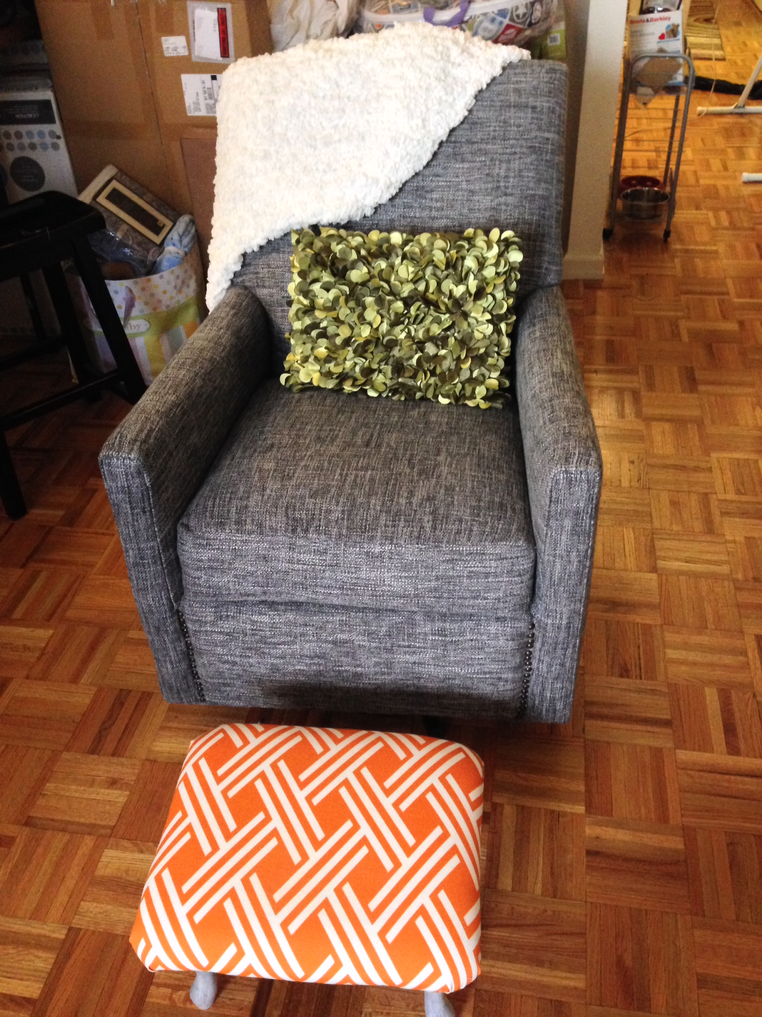 Upholstered Glider Chair After
