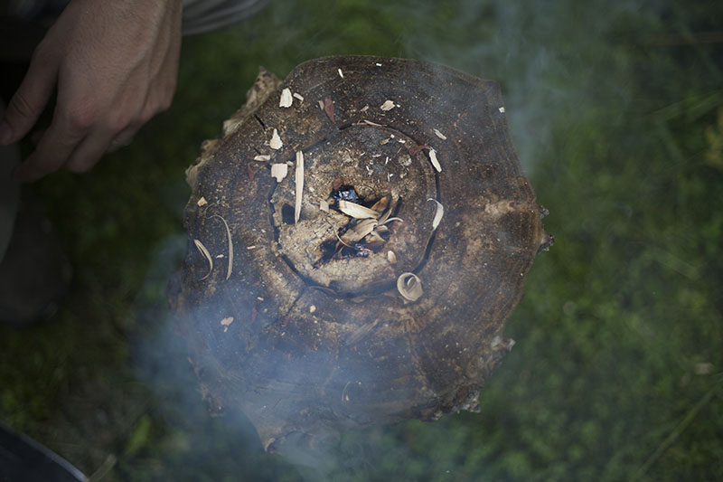 fire making after rain survival