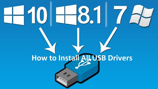 How to Install All USB Drivers
