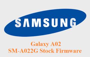 Samsung Galaxy A02 SM-A022G Stock Firmware