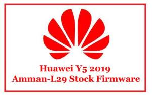Huawei Y5 2019 Amman-L29 Stock Firmware