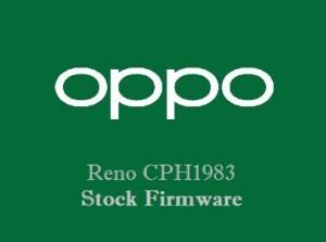 Oppo Reno CPH1983 Stock Firmware Download