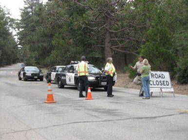 Road block at Sunrise & Los Huecos Jul 11.