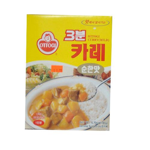 스페셜-오뚜기 3분 카레-순한맛 190g
