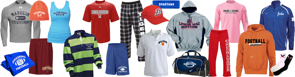 embroidered apparel garnments in