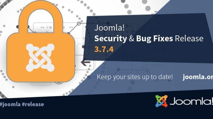 Joomla! 3.7.4 Release