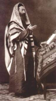 Prayer leader in tallit