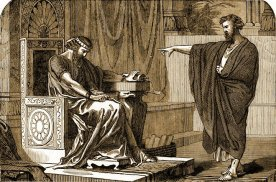 Jeremiah the Prophet and King Zedekiah, 1897 illustration